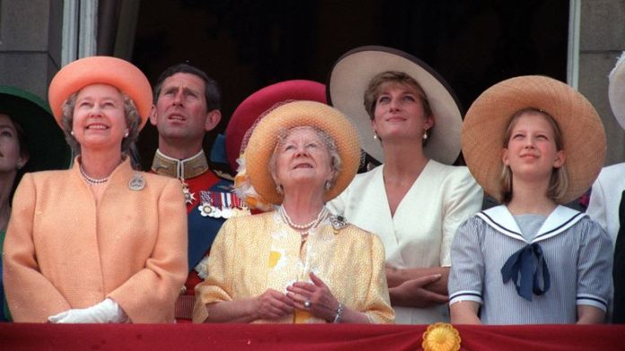 1992 Four generations of the Royal family, L-R : The Queen, The Prince of Wales, The Queen Mother, the Princess of Wales and Lady Gabriella Windsor, daughter of the Prince of Kent.