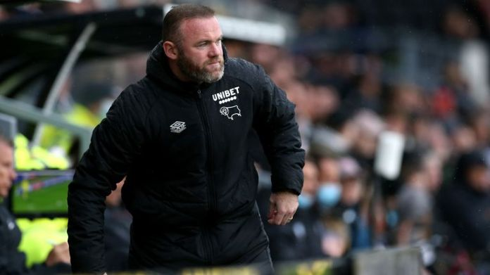 Derby County manager Wayne Rooney