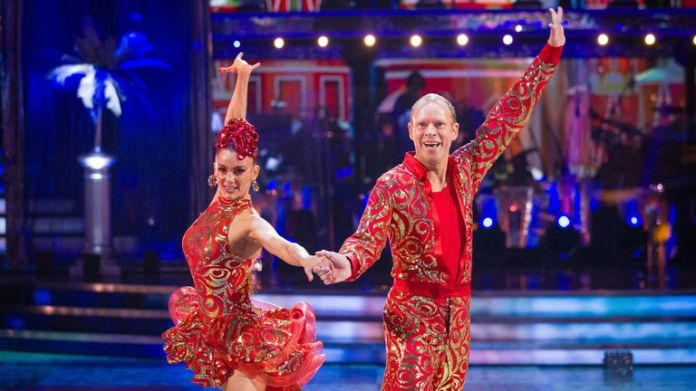 BBC handout photo of Diane Buswell and Robert Webb during the dress run for the first episode of Strictly Come Dancing 2021.