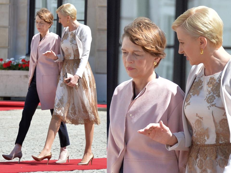 Agata Duda z żoną prezydenta Niemiec, Elke Buedenbender