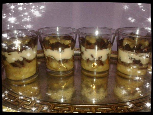 Verrines Bananes Brownies