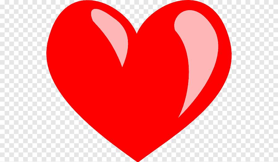 رسم قلب الكرتون قلب أحمر كبير الحب والقلب Png