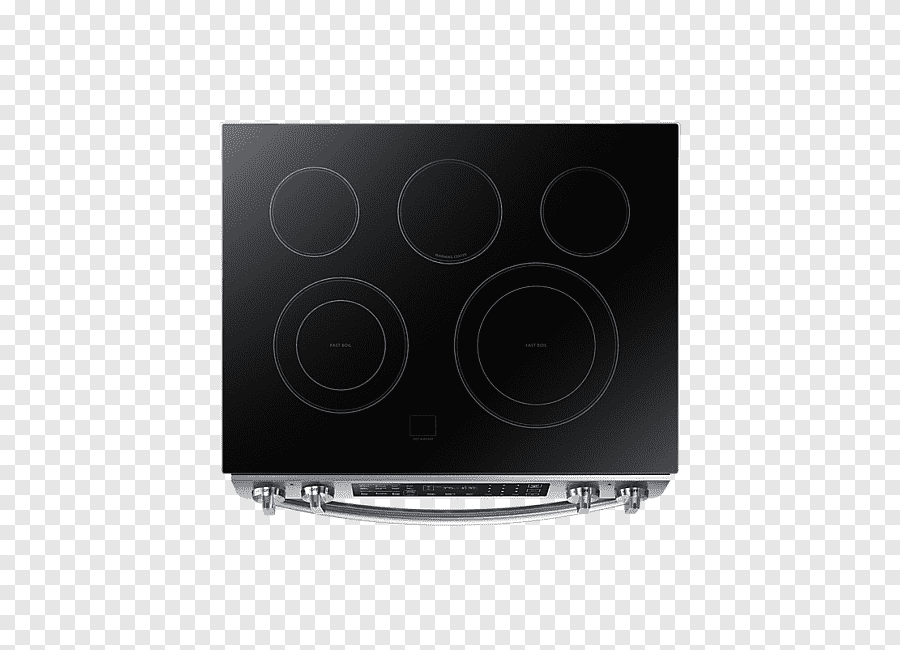 Black Smooth Top Induction Range Electronics Multimedia Stove Top View Cooking Ranges Cooktop Png Pngegg