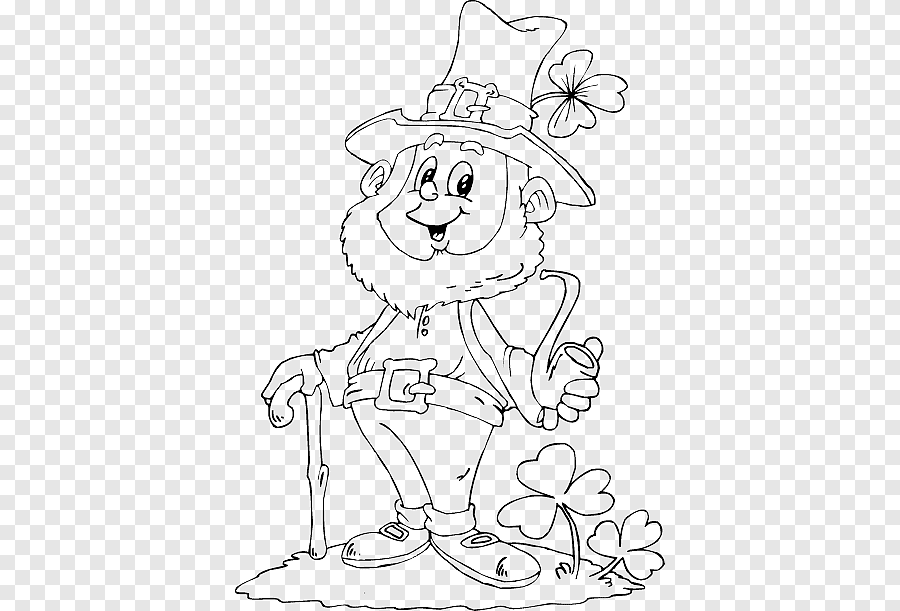 Colouring Pages Leprechaun Coloring Book Saint Patrick S Day Child Leprechaun Coloring Pages Png Pngegg