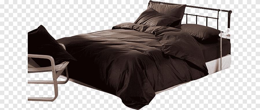 brown comforter bed frame furniture