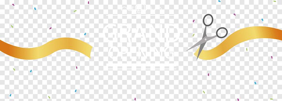 grand opening paper logo brand grand