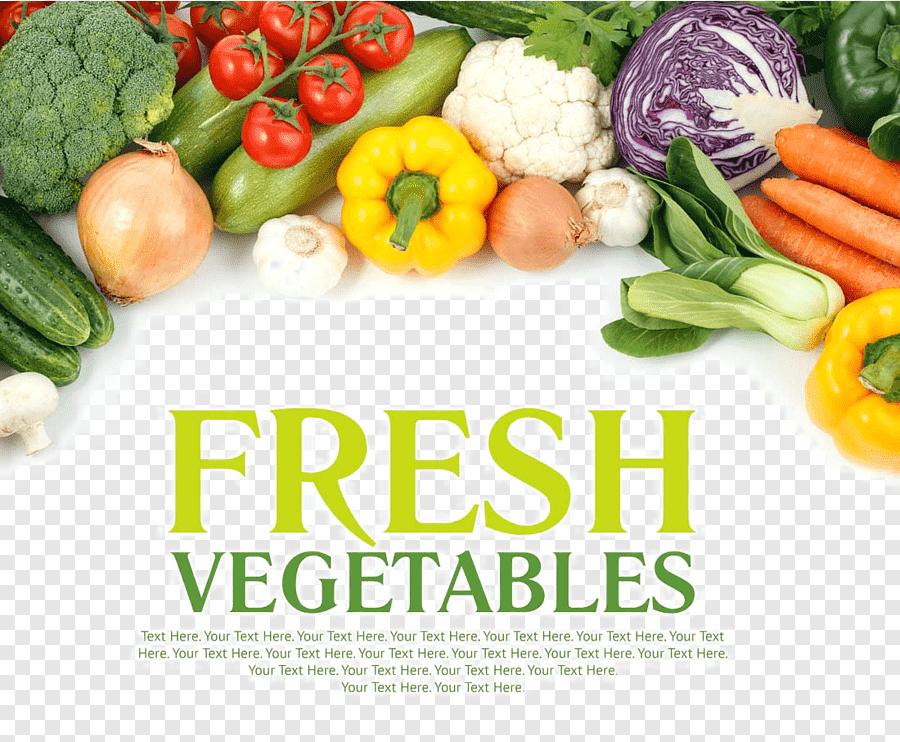 fresh vegetables poster design fruit