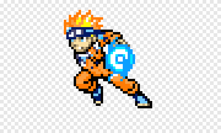 Pixel Art Naruto Uzumaki Bead Naruto Texte Perle Png Pngegg