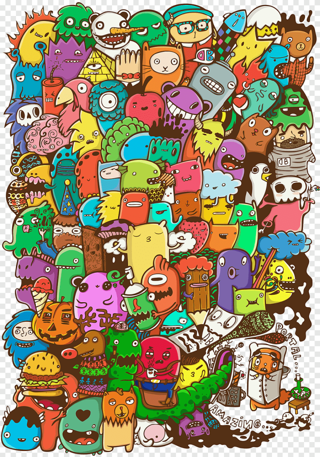 Vexx Doodle Drawing Art Coloring book, behance, dribbble png  PNGEgg