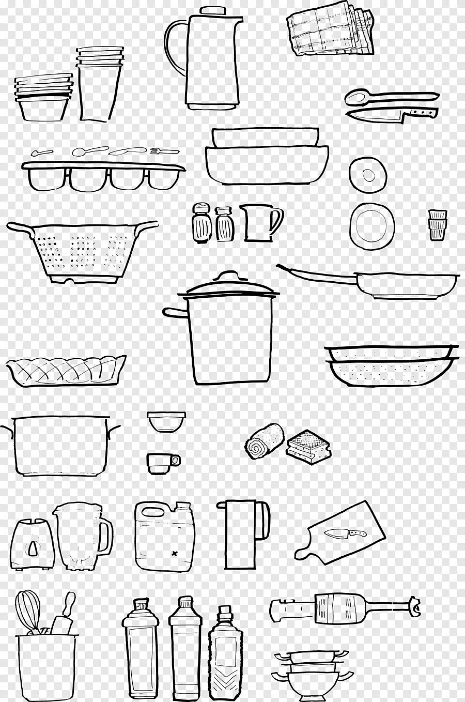 dessin ustensile de cuisine papier