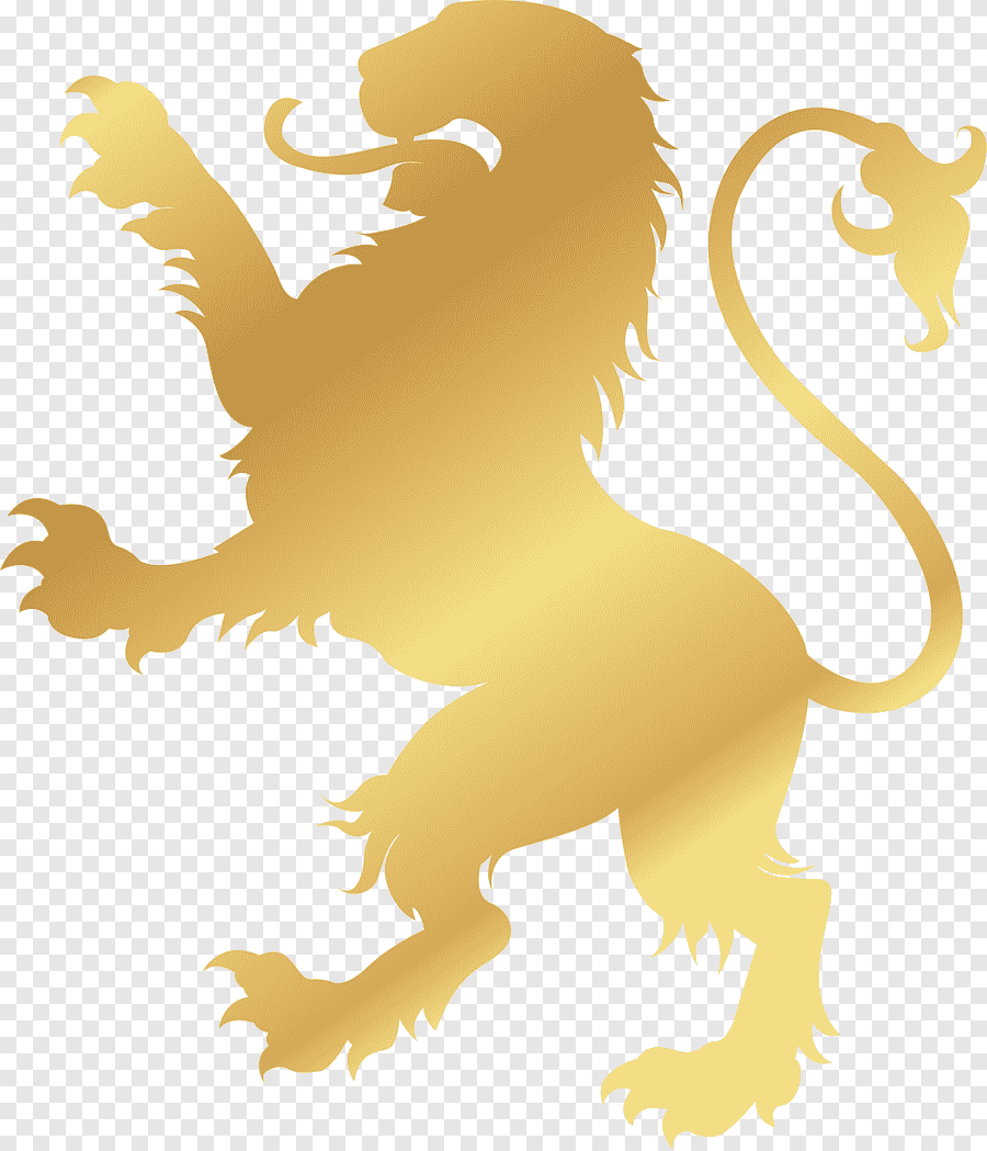 Gold Lion Logo Lion Logo Gold Symbol Golden Noble Lion Emblem Mammal Png Pngegg