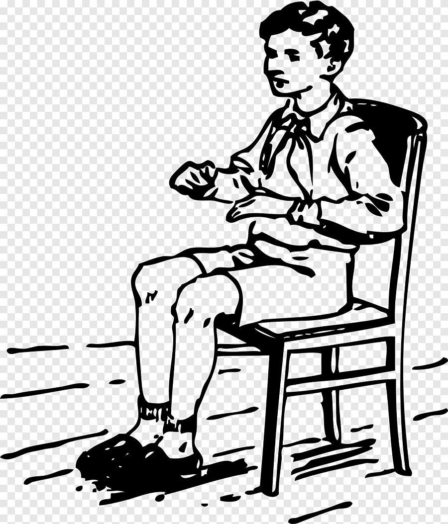 chaise enfant assis chaise blanc