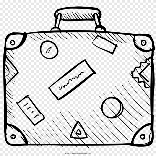 Suitcase Travel Coloring book Drawing Baggage, suitcase, angle