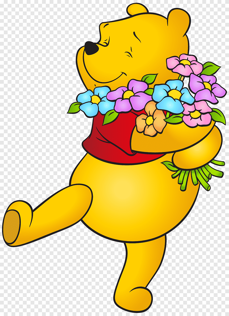 Winnie The Pooh Illustration Winnie The Pooh Winnie The Pooh Gopher Eeyore Piglet Winnie The Pooh With Flowers Free Food Cartoons Png Pngegg