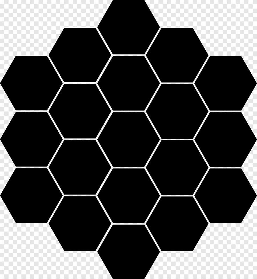 black octagon shaped porcelain tile