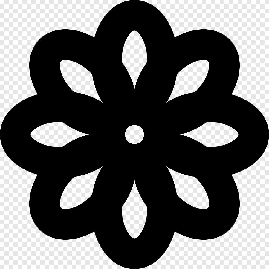blanc fleurs noires divers logo png