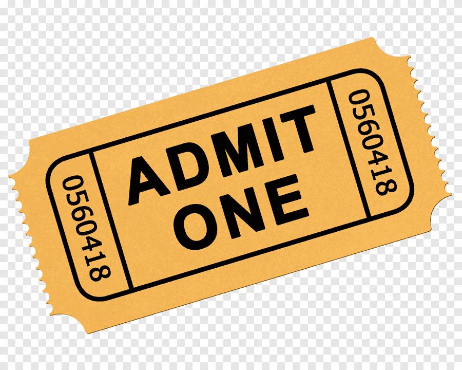 ticket cinema train train label text