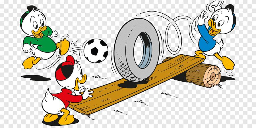 Three Animated White Ducks Illustration Huey Dewey And Louie