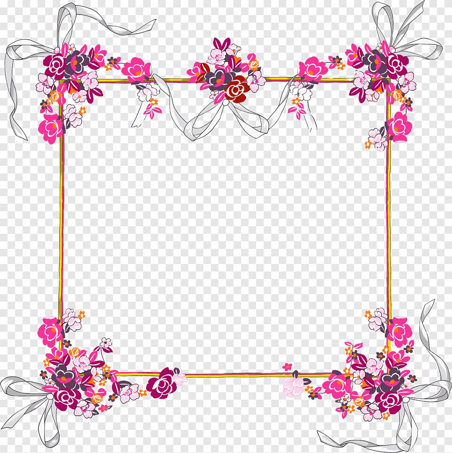 Bordure Decorative Frontiere Arrangement De Fleurs Png Pngegg
