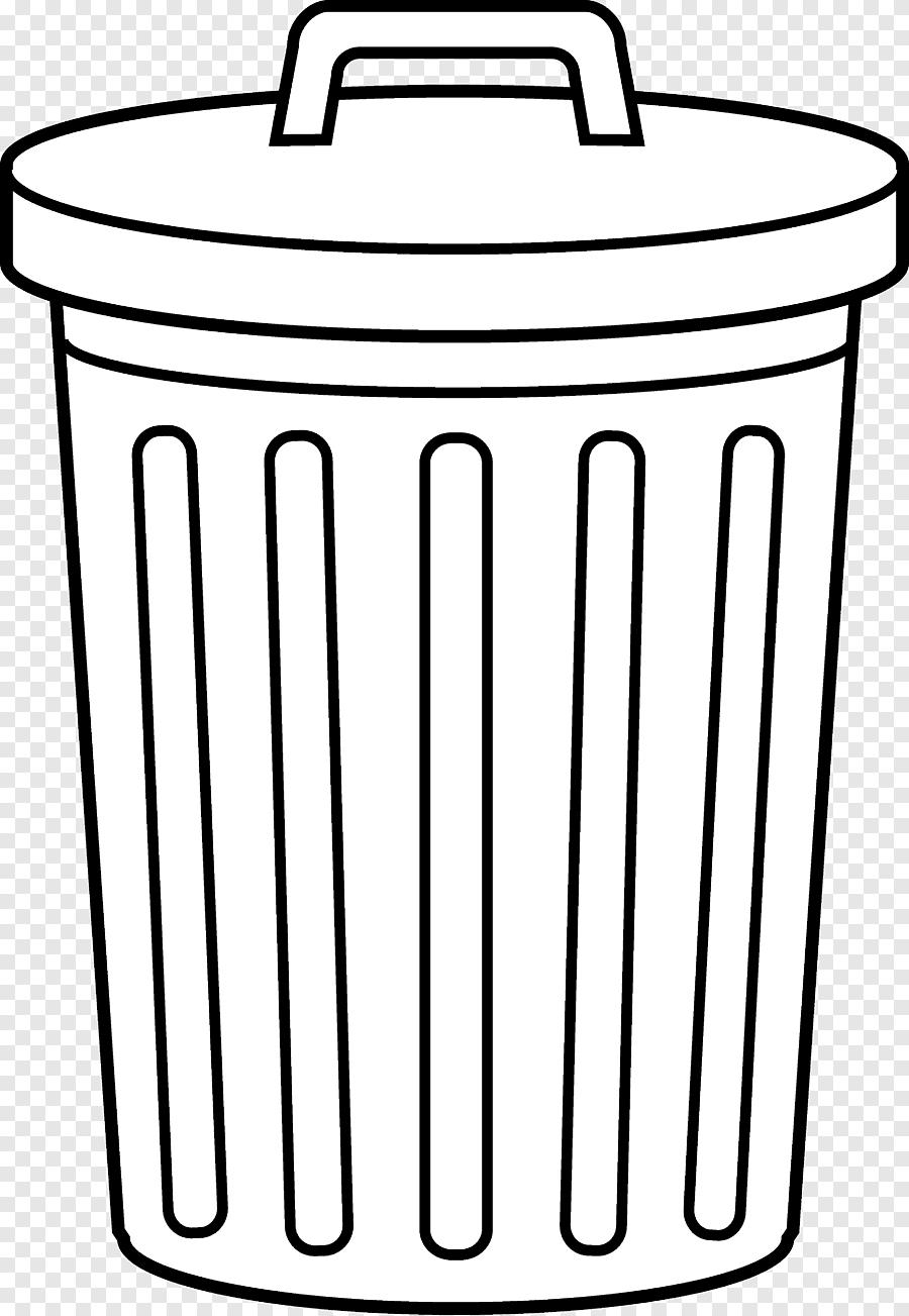 Gambar Tong Sampah Kartun : gambar, sampah, kartun, Gambar, Sampah, Kartun, Hitam, Putih