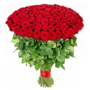 Madrid Straight from Heart   Flower Delivery   100 Red Roses  50     Madrid flowers   Straight from Heart Flower Bouquet Arrangement
