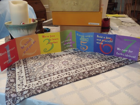 """""""My 7 Principles"""" accordion-fold booklet, shared by Jim Hennigan"""