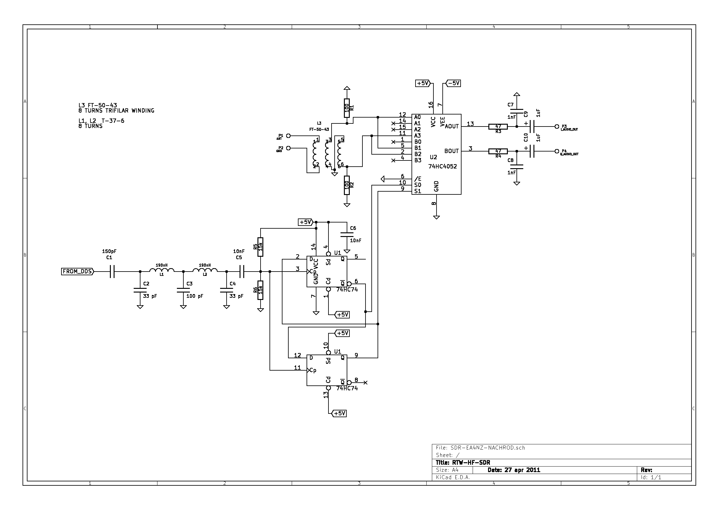 3 To 4 Band Pass Filter Circuit Active Diagram