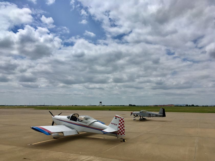 Fuel stop and flight planning at KLAW (Lawton, OK)