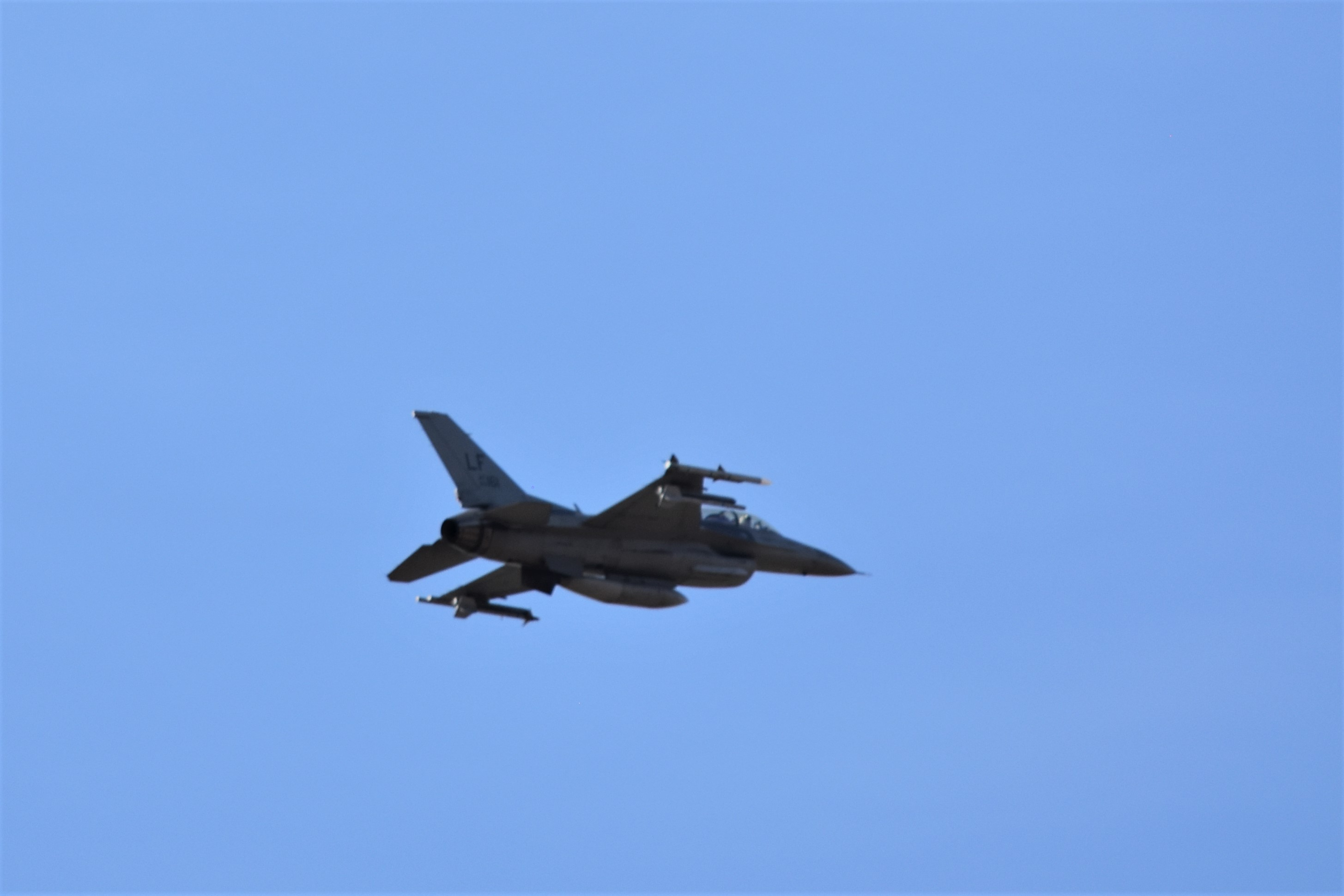 Surprise F-16 Flyby