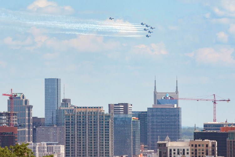 Nashville Blue Angels Fly Over