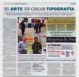 2014-03-20 - La Tribuna - Artículo tipografía