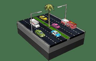 Avenidas em SimCity BuildIt.