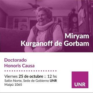 HONORIS CAUSA A MIRYAM KURGANOFF DE GORBAN