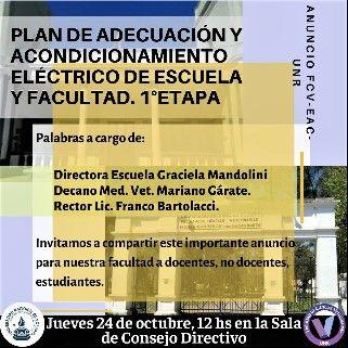 PLAN DE ADECUACIÓN Y ACONDICIONAMIENTO ELÉCTRICO DE ESCUELA Y FACULTAD