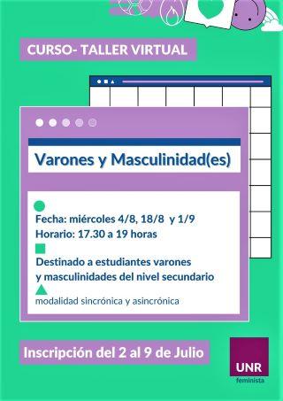 CURSO-TALLER VIRTUAL PARA VARONES Y MASCULINIDAD(ES) DE LAS ESCUELAS SECUNDARIAS
