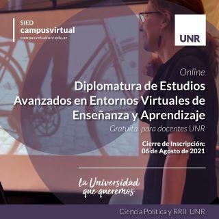DIPLOMATURA DE ESTUDIOS AVANZADOS EN ENTORNOS VIRTUALES DE ENSEÑANZA Y APRENDIZAJE. INSTANCIA FORMATIVA GRATUITA