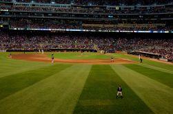 enjoying a night at the ballpark