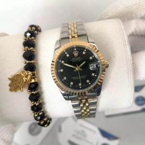 Reproduction Montre Rolex Datejust Fond Noir maroc casablanca rabat agadir tanger