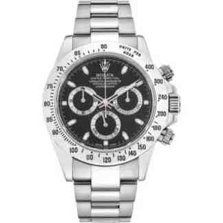 Reproduction Montre Rolex Daytona argenté Noir