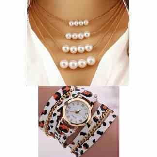 Montre bracelet + Collier x3