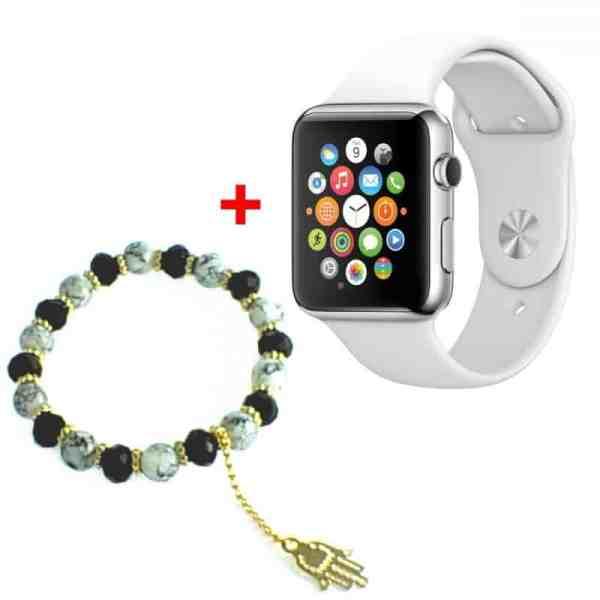 smartwatch-blanc-bracelet