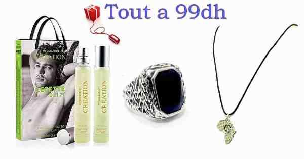 Parfum Importé de Turquie avec Collier Afrique et Bague &