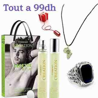 Parfum Importé de Turquie avec Collier Afrique et Bague - E Achat Maroc | Montres, Parfum, Chaussures, vêtements, maison, beauté ...