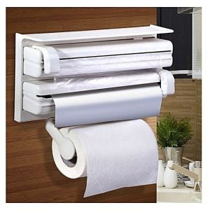 Distributeur de Film Alimentaire Papier Serviette et Feuilles d'aluminium 3 en 1a