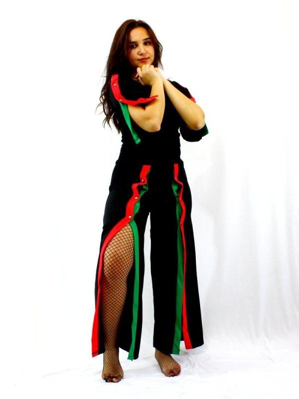 Ensemble Décontracté Chic Bas band verte rouges Sexy Fishnet Résille maroc vetement