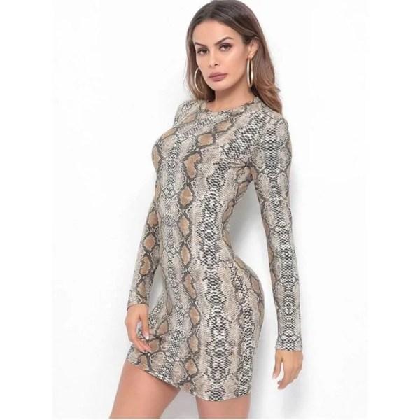 Mini robe sexy imprimée serpent maroc