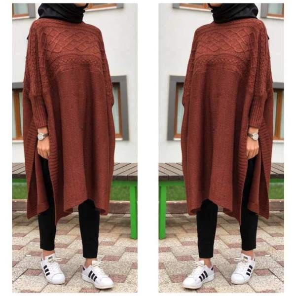 IMG 20181125 WA014161 768x1200 - Tunique Pull longue en maille Tricot Disponible en plusieurs couleurs Taille Standard (Copie)