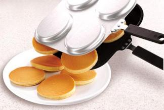 POÊLES À CRÊPES ROBUSTES pankeik maroc achat 4 cavité crêpe biscuits Comme Vu sur TV USA TV Produits commerciaux plat de cuisson moule à cake Avec quatre trous 2