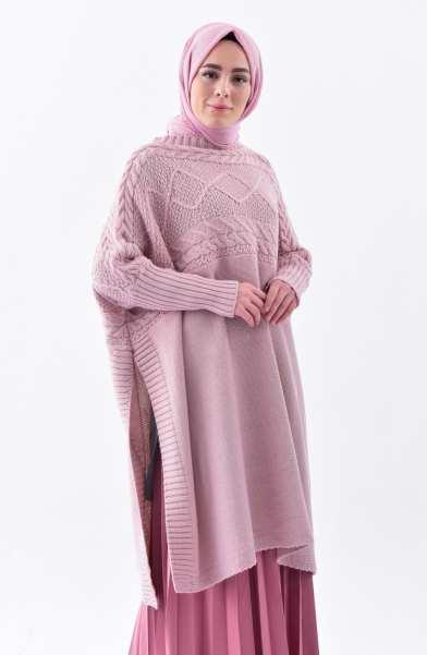 Tunique Pull longue en maille Tricot Disponible en plusieurs couleurs Taille Standard couleur rose solde maroc hijab