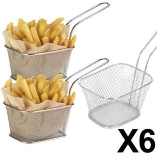 6 minis paniers a frites individuels inox 10x8 - E Achat Maroc | Montres, Parfum, Chaussures, vêtements, maison, beauté ...
